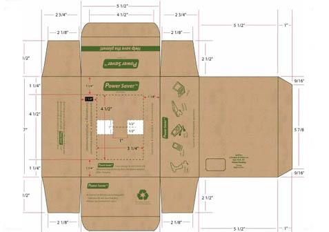 三层b楞纸箱平面图